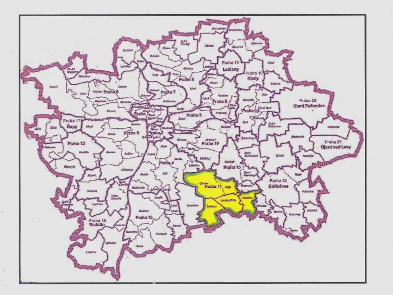 Poloha A Rozloha Prahy 11 Praha 11