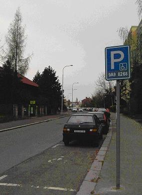 Žádost o vyhrazení parkovací plochy