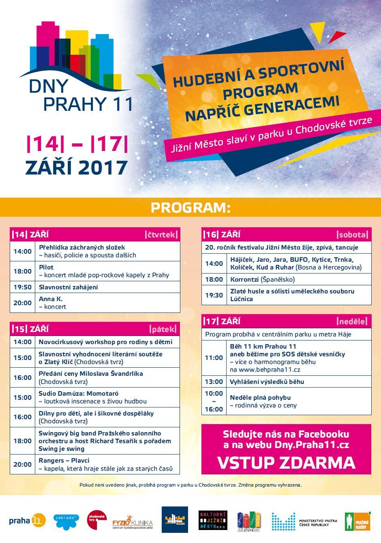 Dny Prahy 11 plakát 2017