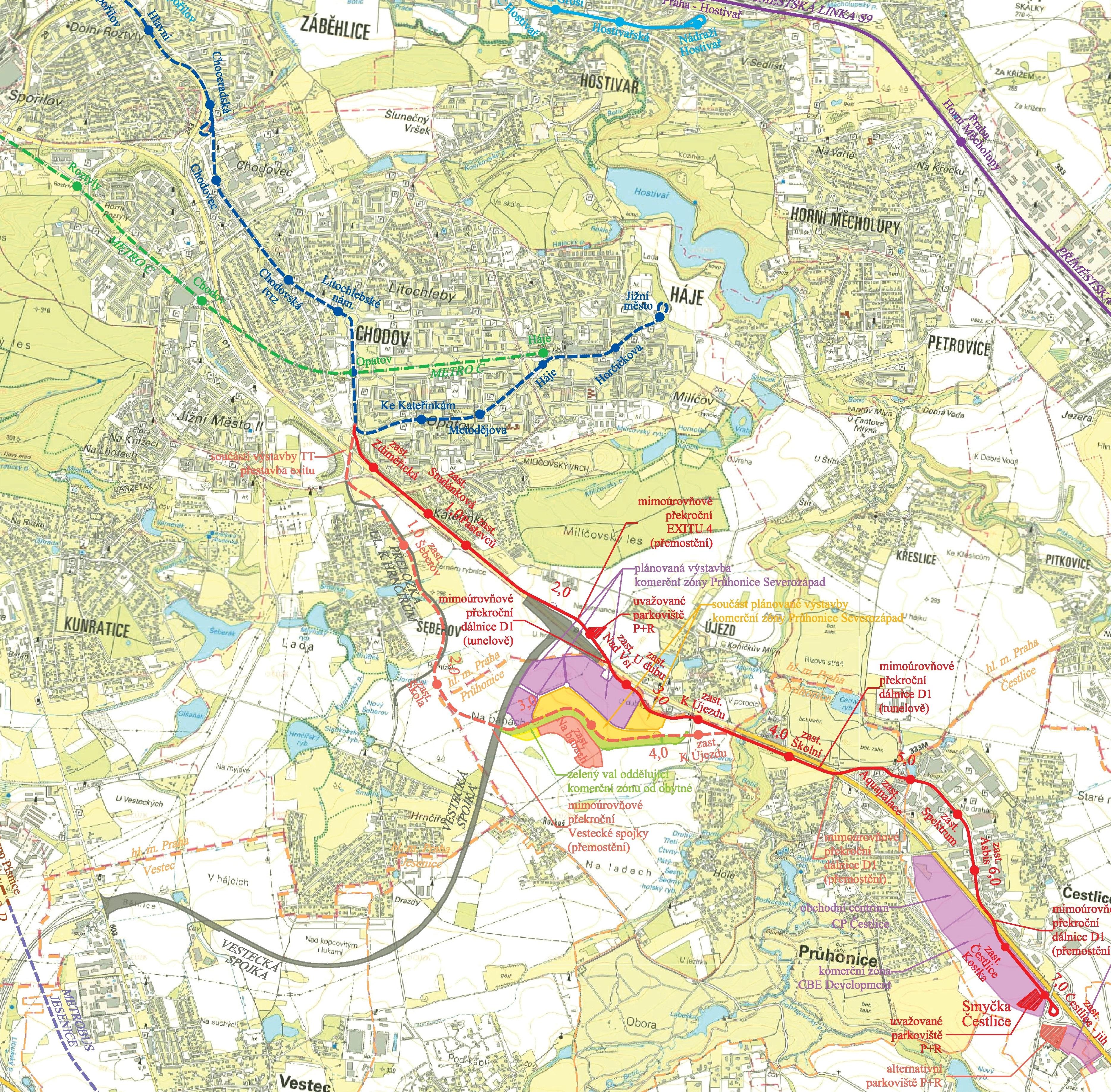 TT Opatov - Čestlice, obrázek se otevře v novém okně